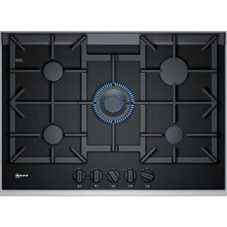 NEFF N90 T27TA69N0 Built In Gas Hob - Black - T27TA69N0_BK - 1