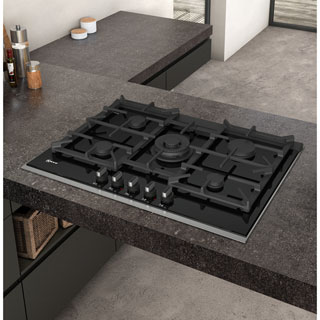 NEFF N90 T27TA69N0 Built In Gas Hob - Black - T27TA69N0_BK - 5