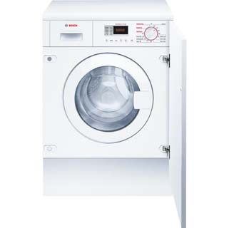 Bosch Serie 4 WKD28351GB Built In Washer Dryer - White - WKD28351GB_WH - 1
