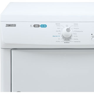 Zanussi ZTE7101PZ 7Kg Vented Tumble Dryer - White - C Rated - ZTE7101PZ_WH - 2