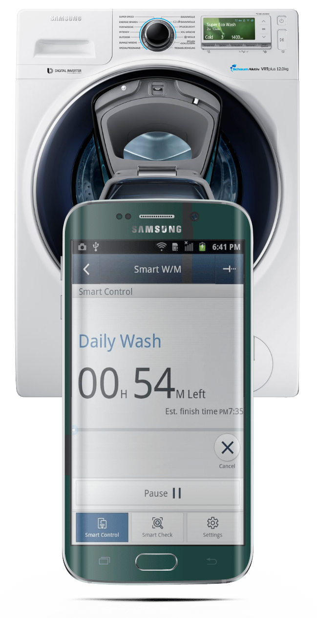 Samsung AddWash eco bubble washign machines