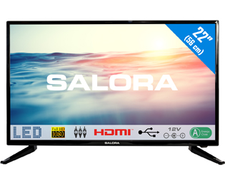 Salora 22LED1600 Full HD TV - 22 inch, Zwart - 22LED1600_BK - 1
