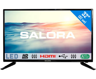 Salora 32LED1600 HD ready TV - 32 inch, Zwart - 32LED1600_32 - 1