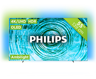 Philips 55OLED803 4K Ultra HD TV - 55 inch, Zilver - 55OLED803_SI - 1