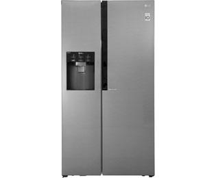 LG GSL360ICEV Amerikaanse koelkast met waterdispenser - Antraciet, A+