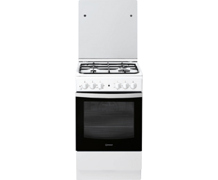 Indesit IS5G4KHW/NL Gas fornuis - 50 cm, Wit - IS5G4KHW/NL_BK - 1