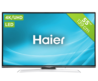 Haier LDU55H350S 4K Ultra HD TV - 55 inch, Zwart