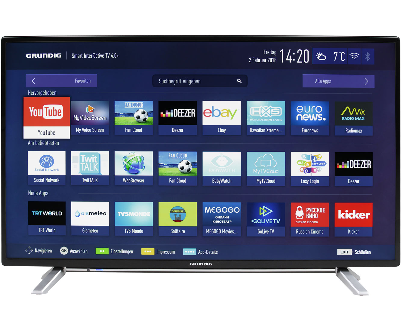 grundig 40 gfb 6728 full hd led fernseher 102 cm 40 zoll schwarz ebay. Black Bedroom Furniture Sets. Home Design Ideas