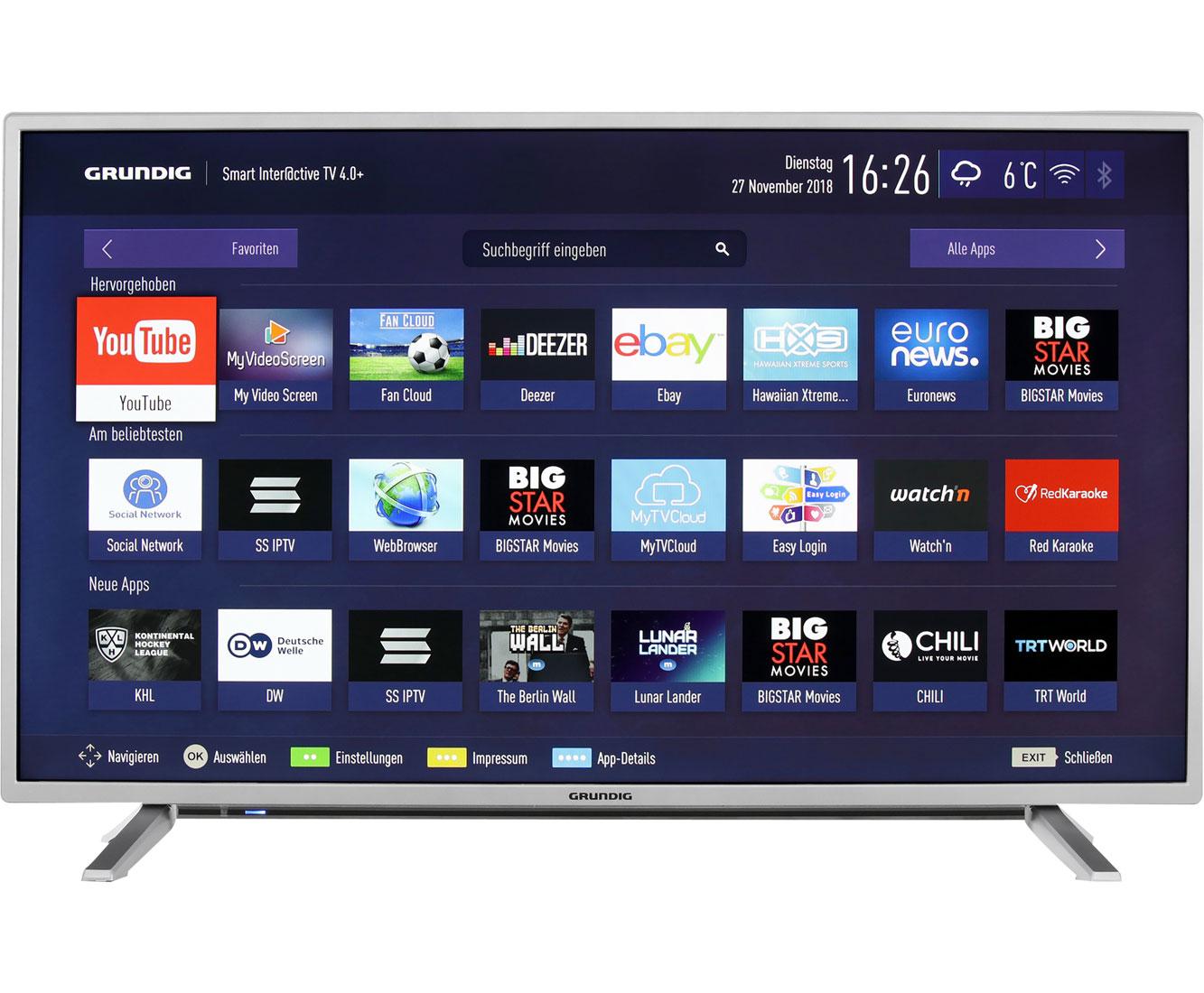 Grundig 40 Gfs 6728 Full Hd Led Smart Tv 102 Cm 40 Silber