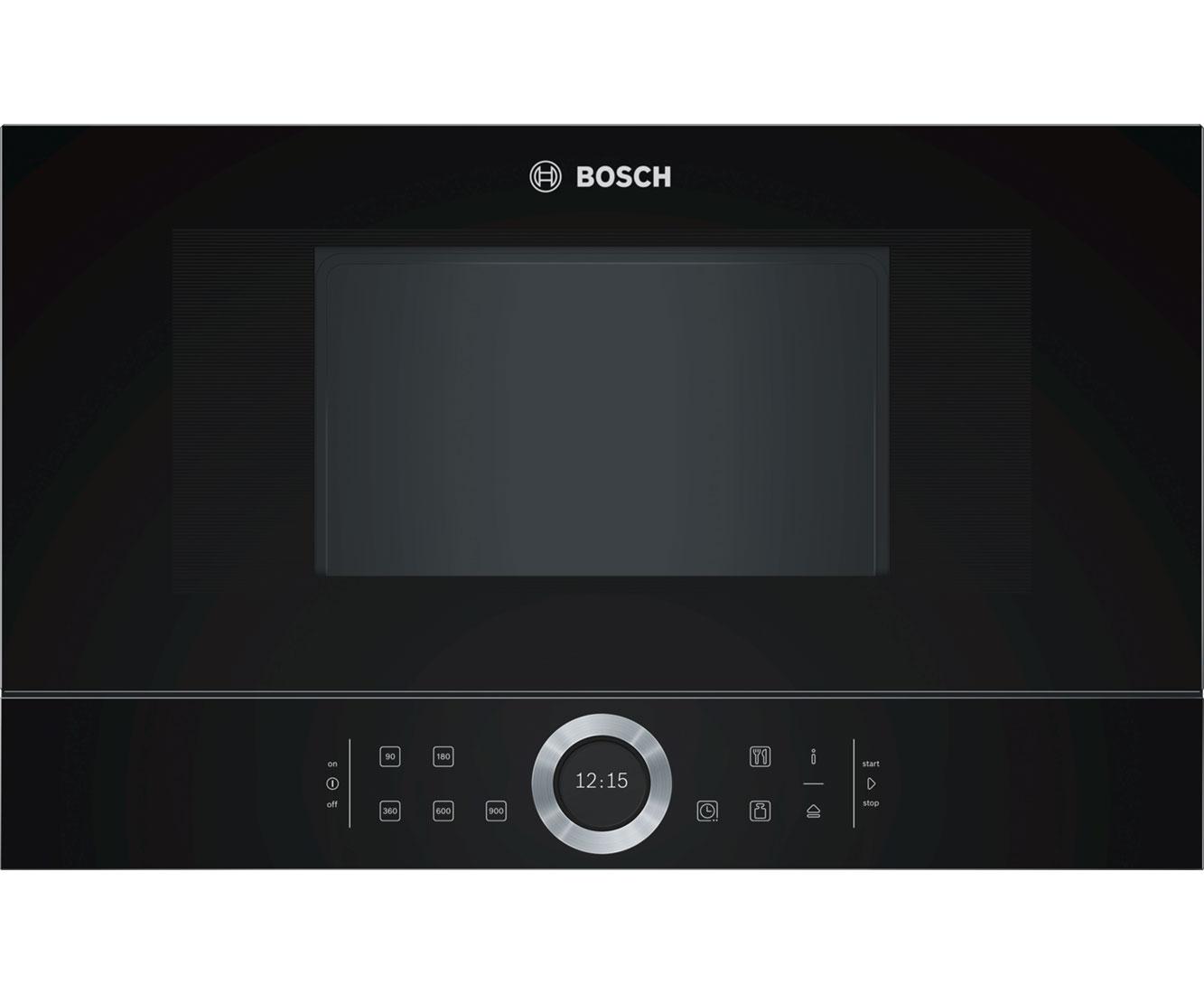 Bosch Serie 122 BFL122GB12 Einbau Mikrowelle, AutoPilot 12, 122 Liter   12 Watt    Schwarz