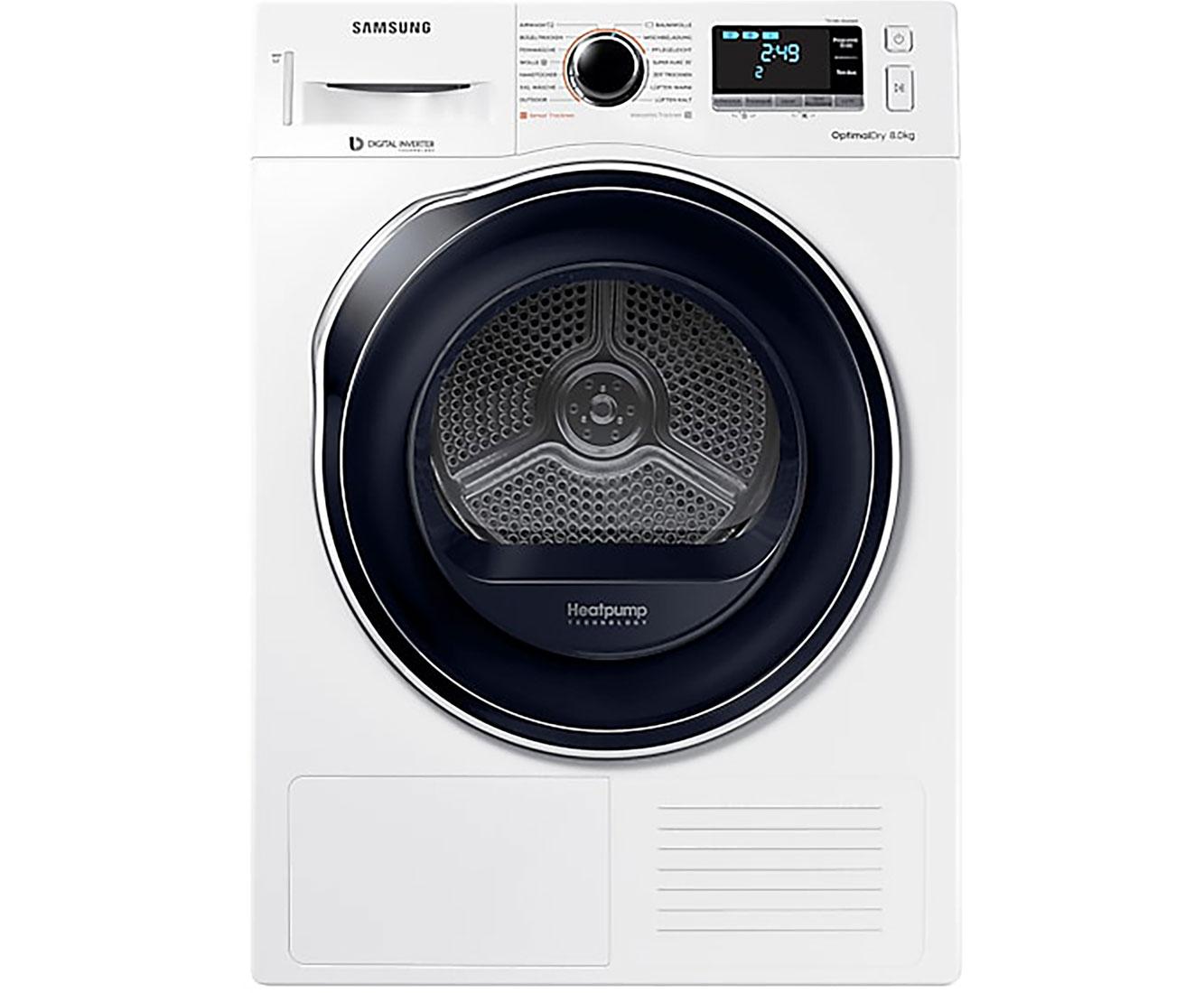 Samsung DV81M6210CW/EG Wärmepumpentrockner - Weiß | Bad > Waschmaschinen und Trockner > Wärmepumpentrockner | Weiß | Samsung