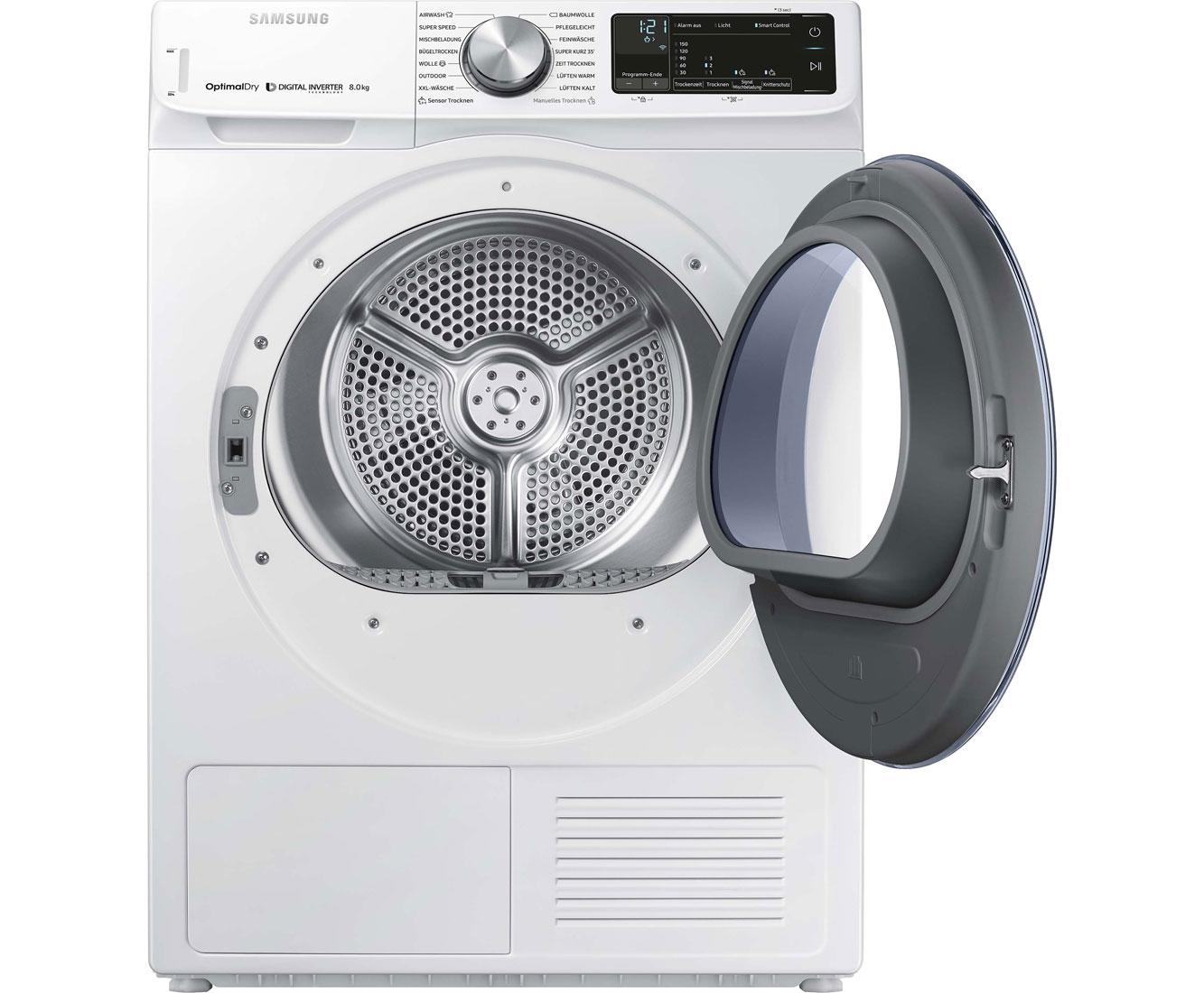 Samsung dv n w eg wärmepumpentrockner kg weiß a