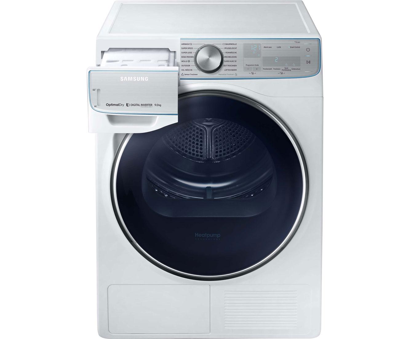 Samsung dv90n8289aw eg wärmepumpentrockner 9 kg weiß a