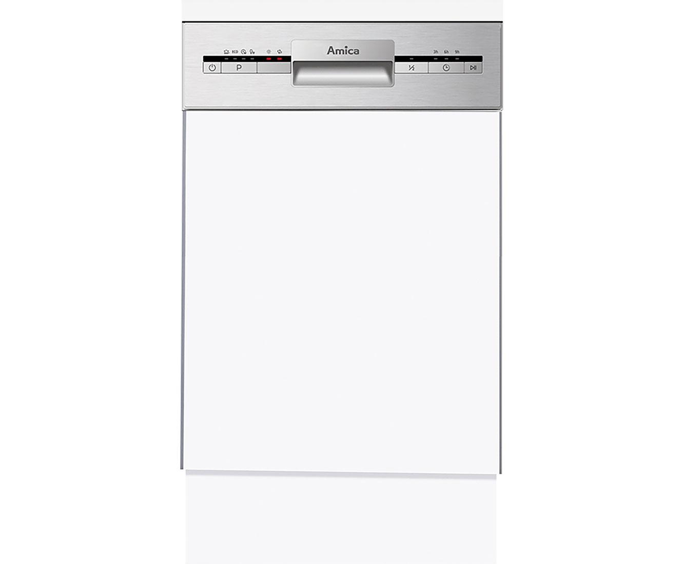 Amica EGSP 14695 E Geschirrspüler 45 cm - Edelstahl   Küche und Esszimmer > Küchenelektrogeräte > Gefrierschränke   Edelstahl   Amica