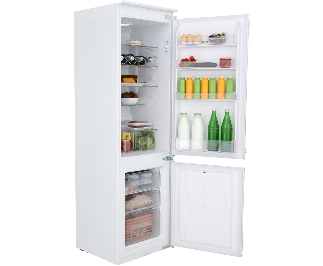 Amica Kühlschrank Türanschlag Wechseln : Amica ekgc einbau kühl gefrierkombination er nische