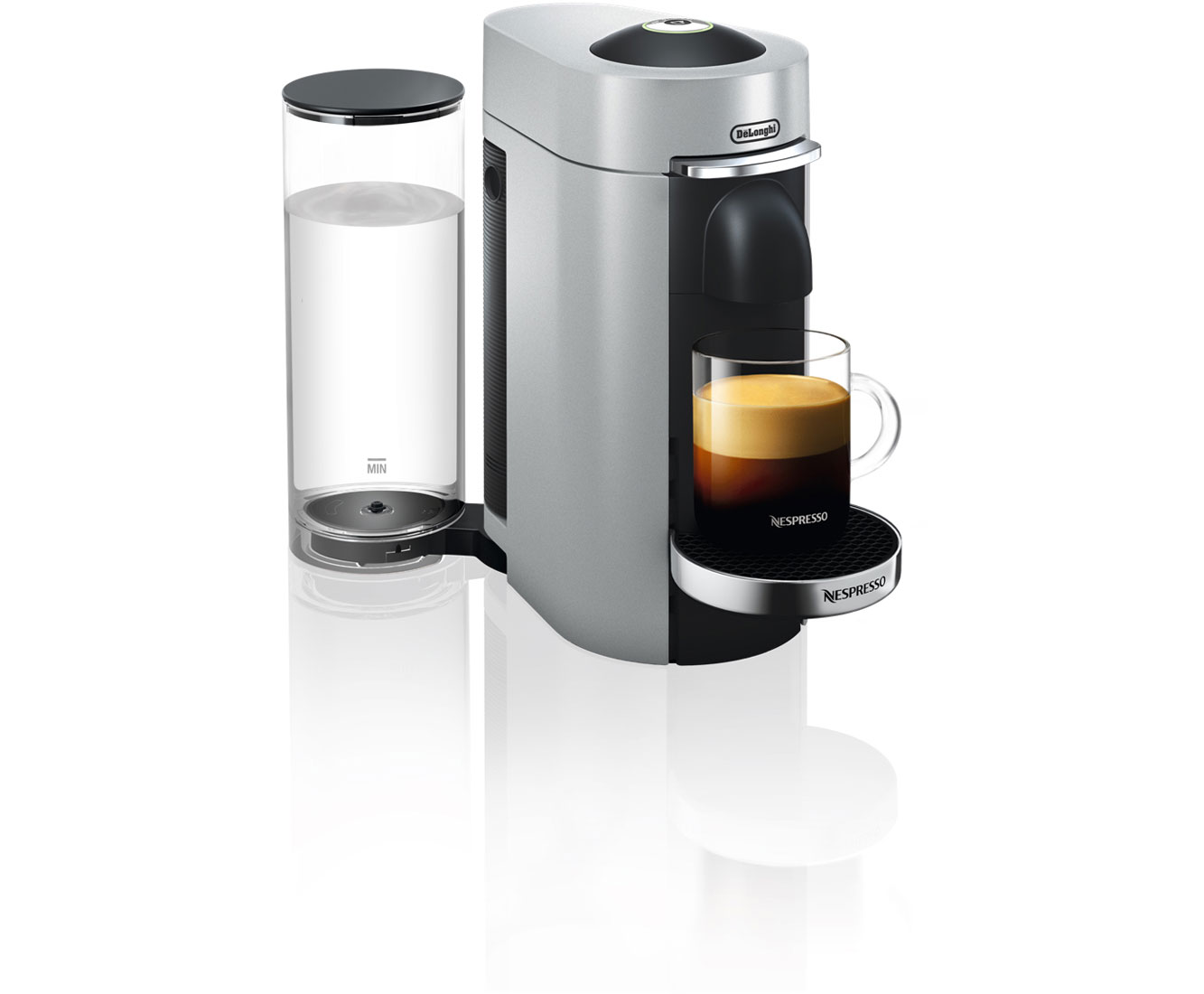 DeLonghi Nespresso Vertuo Plus Deluxe ENV155.S Kaffeemaschinen - Silber / Schwarz | Küche und Esszimmer > Kaffee und Tee > Espressomaschinen | Silber - Schwarz | DeLonghi Nespresso