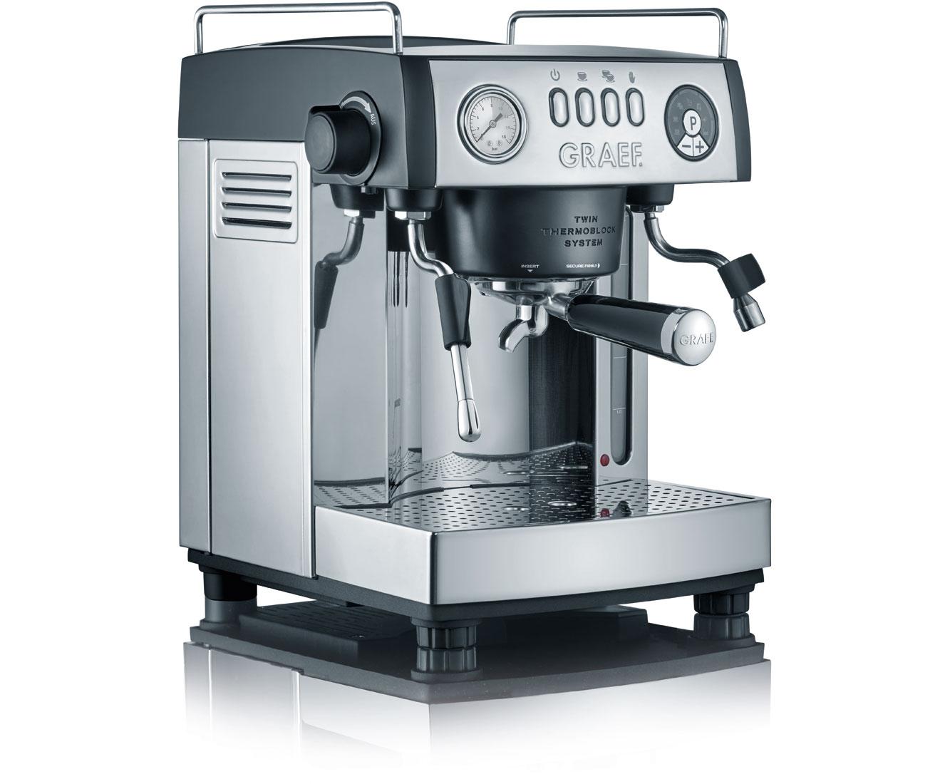 Graef ES902EU Kaffeemaschinen - Edelstahl / Schwarz | Küche und Esszimmer > Kaffee und Tee > Kaffeemaschinen | Schwarz | Edelstahl | Graef