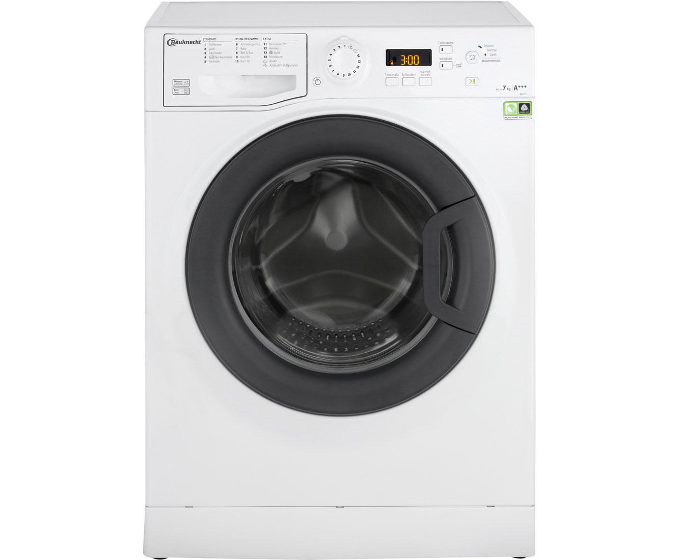 Bauknecht ew 7f4 waschmaschine 7 kg 1400 u min a