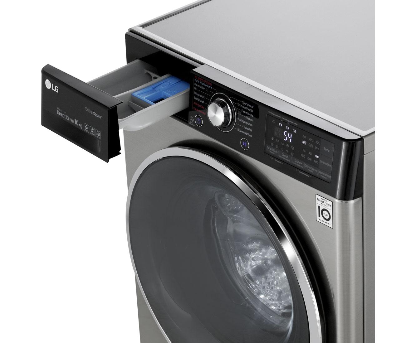 lg f 14wm 10tt6 waschmaschine freistehend steel neu ebay. Black Bedroom Furniture Sets. Home Design Ideas