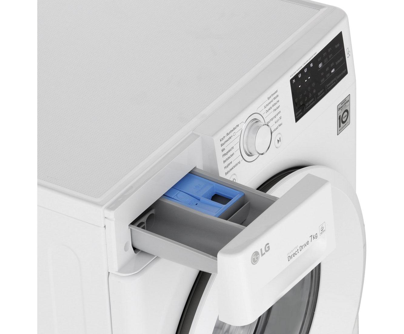 Inverter DirectDrive Smart Di A+++ Waschmaschine LG F14WM7EN0 7kg 1400 U//min