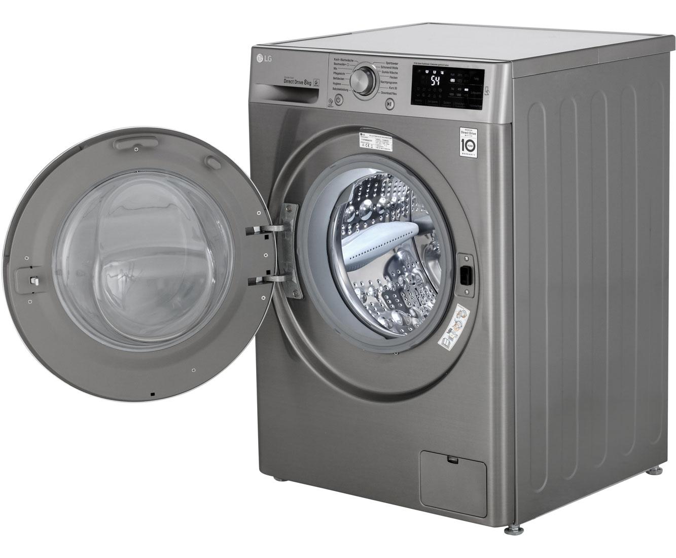 Lg f wm tn waschmaschine grau kg u min a