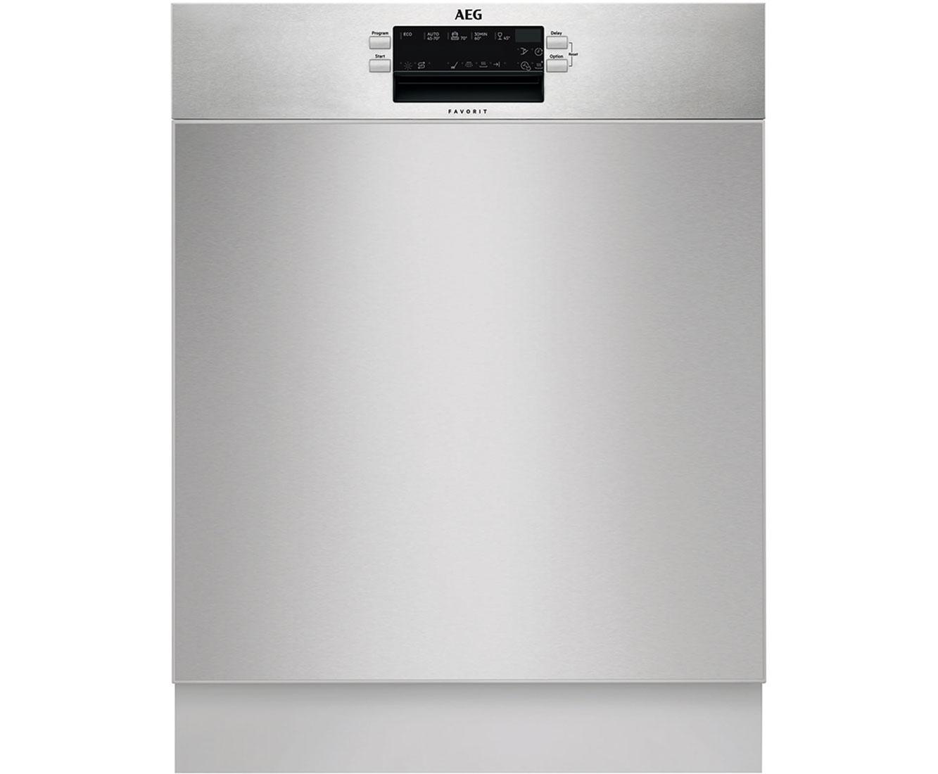 AEG Favorit FUS5260AZM Geschirrspüler 60 cm - Edelstahl | Küche und Esszimmer > Küchenelektrogeräte > Gefrierschränke | Edelstahl | AEG