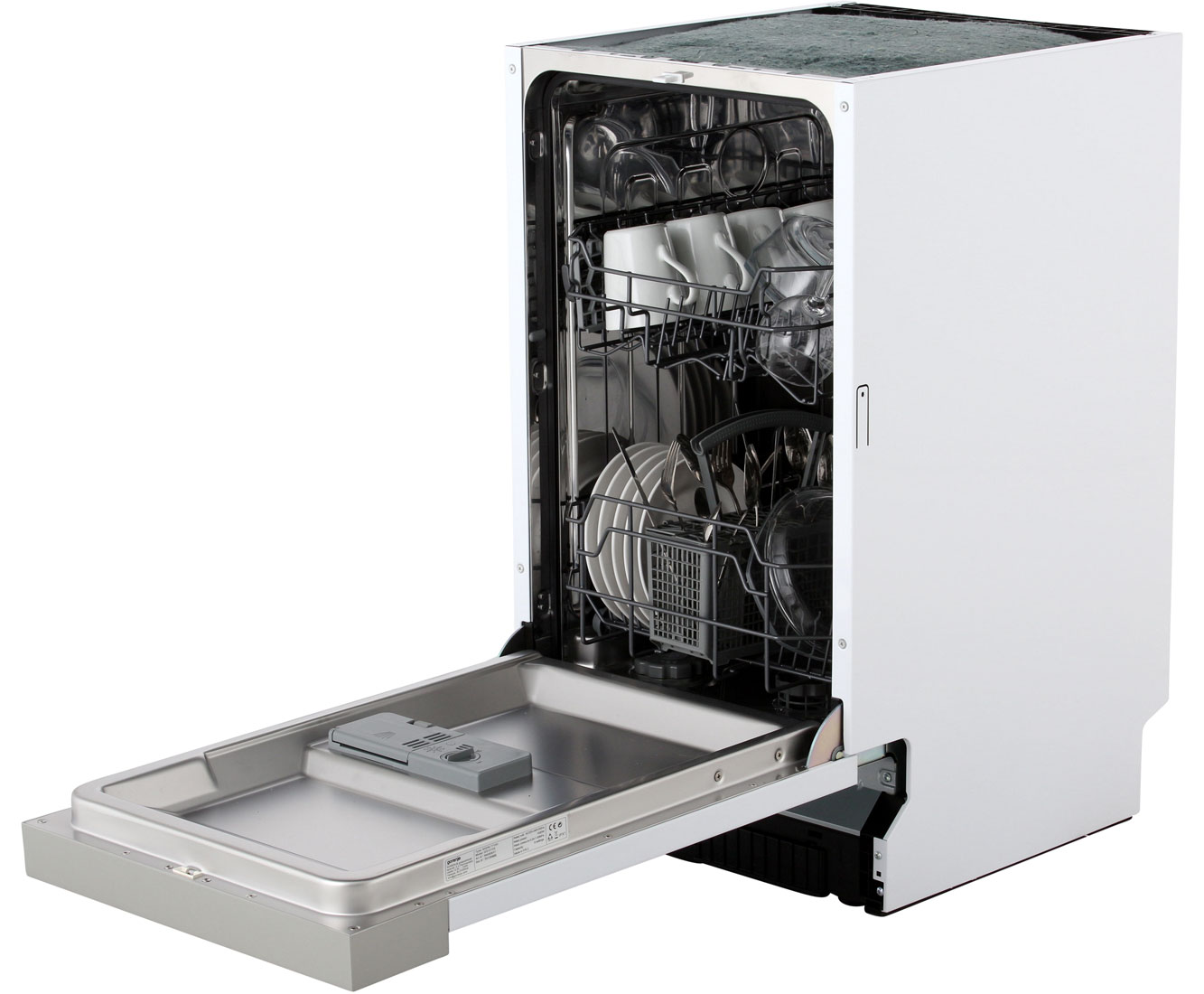Aeg Kühlschrank Santo Zu Kalt : Gorenje gi 51010 x teilintegrierter geschirrspüler 45 cm