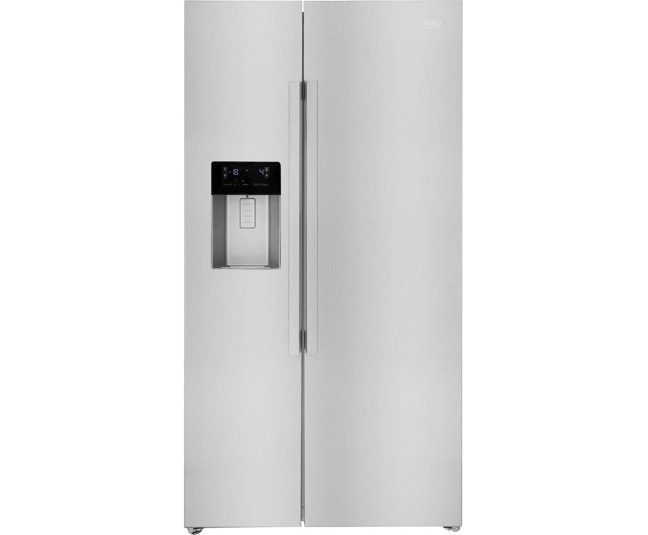 Amerikanischer Kühlschrank Maße : Beko gn xb amerikanischer side by side mit wasserspender
