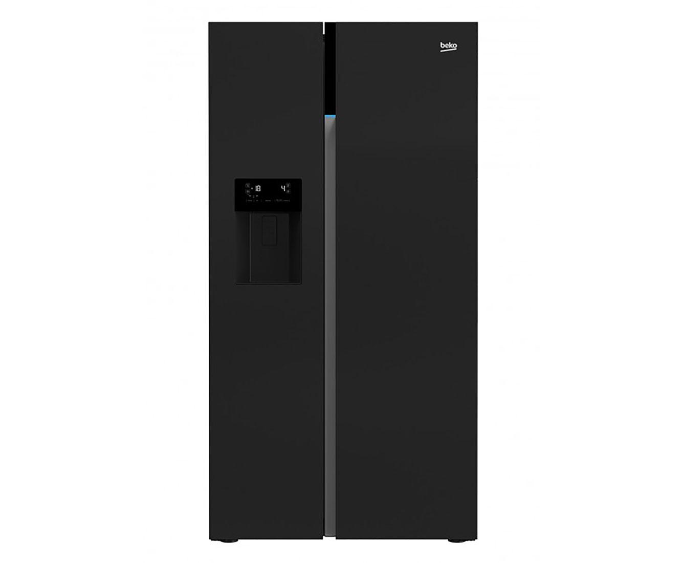 Side By Side Kühlschrank Samsung Schwarz : Beko gn zgb amerikanischer side by side mit wasserspender