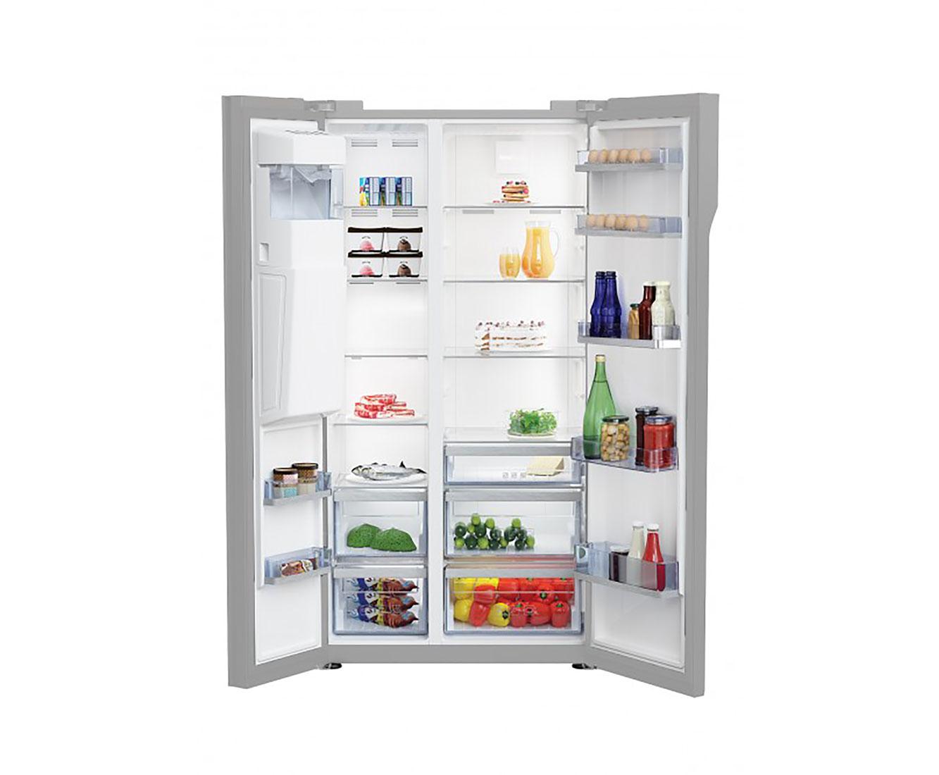 Amerikanischer Kühlschrank Beko : Beko gn 162333 zgb amerikanischer side by side mit wasserspender