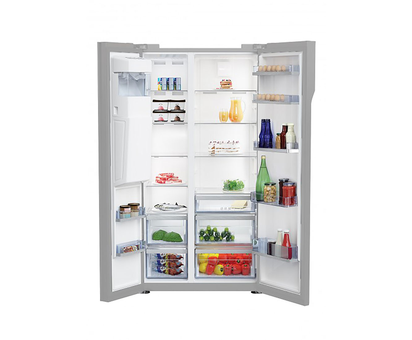 Side By Side Kühlschrank Beko : Beko gn zgb amerikanischer side by side mit
