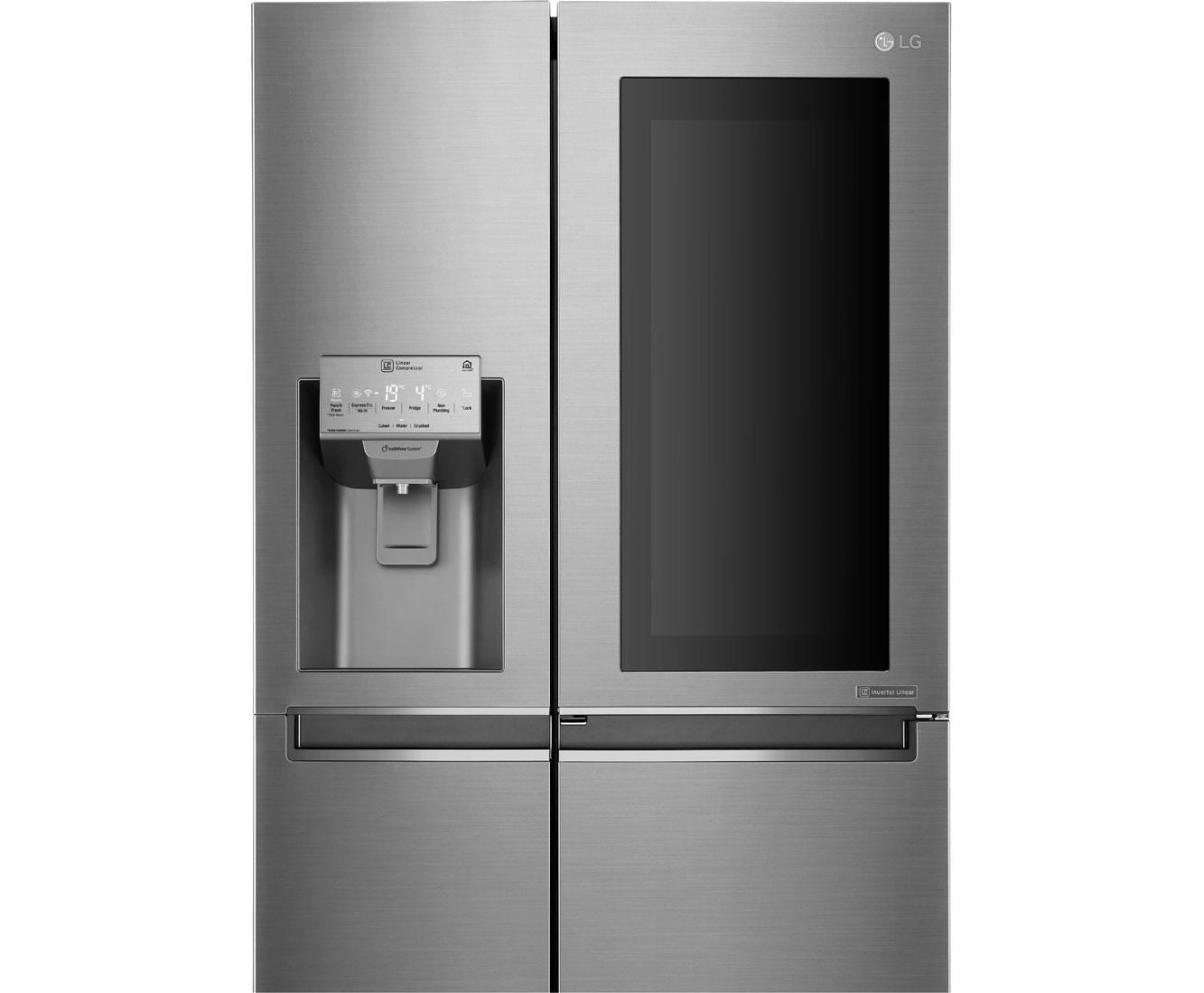 Side By Side Kühlschrank Gewicht : Lg gsi pzaz amerikanischer side by side mit wasserspender