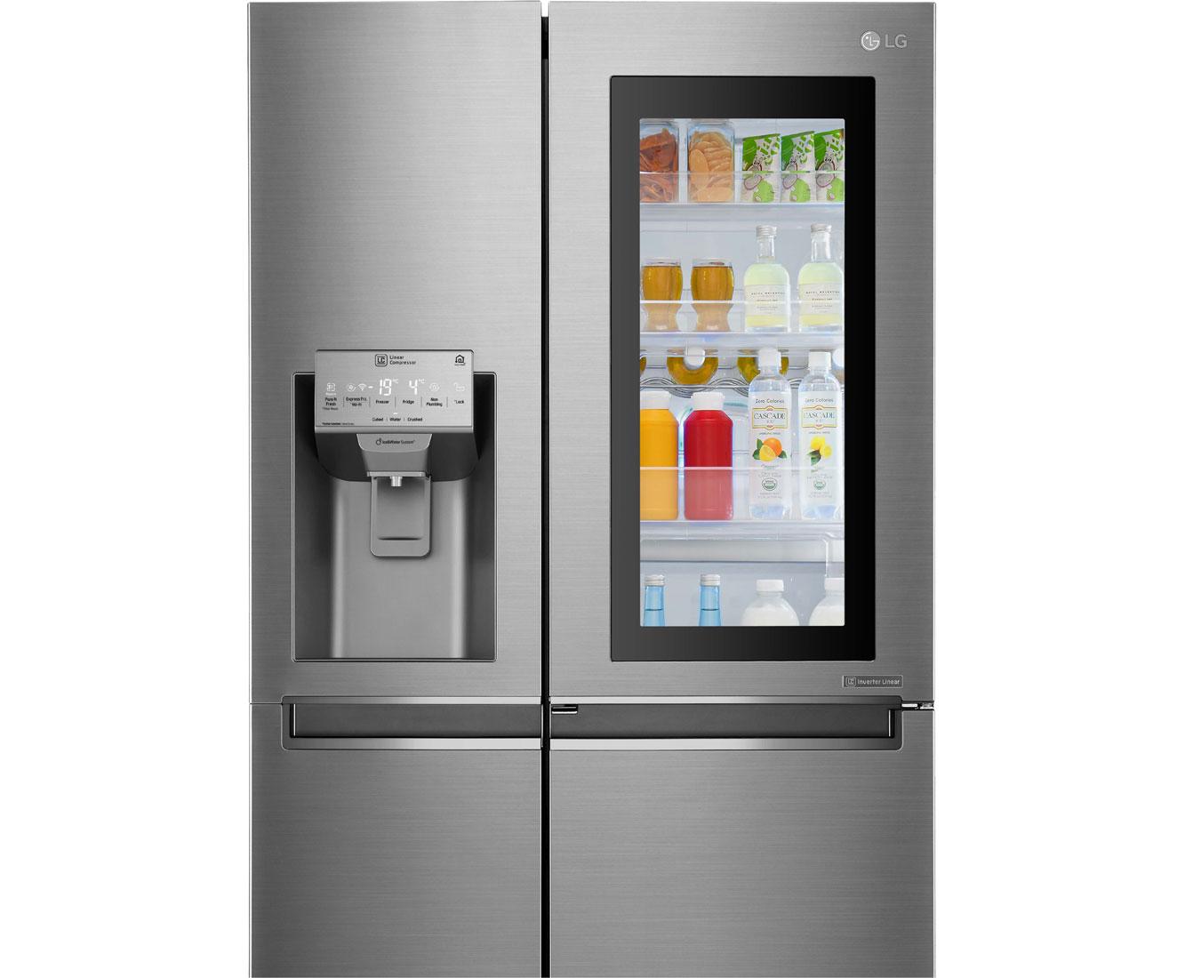 Side By Side Kühlschrank Mit Fenster : U küche mit side by side kühlschrank für unser reihenhaus küchen
