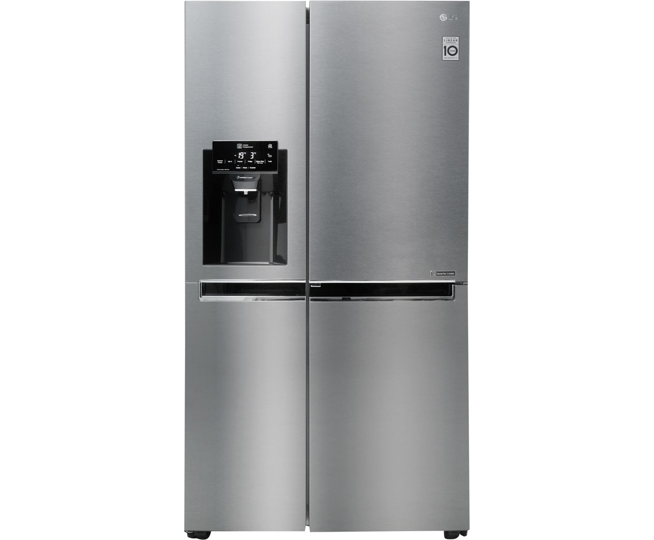 Amerikanischer Kühlschrank Lg : Lg gsj didv amerikanischer side by side mit wasserspender