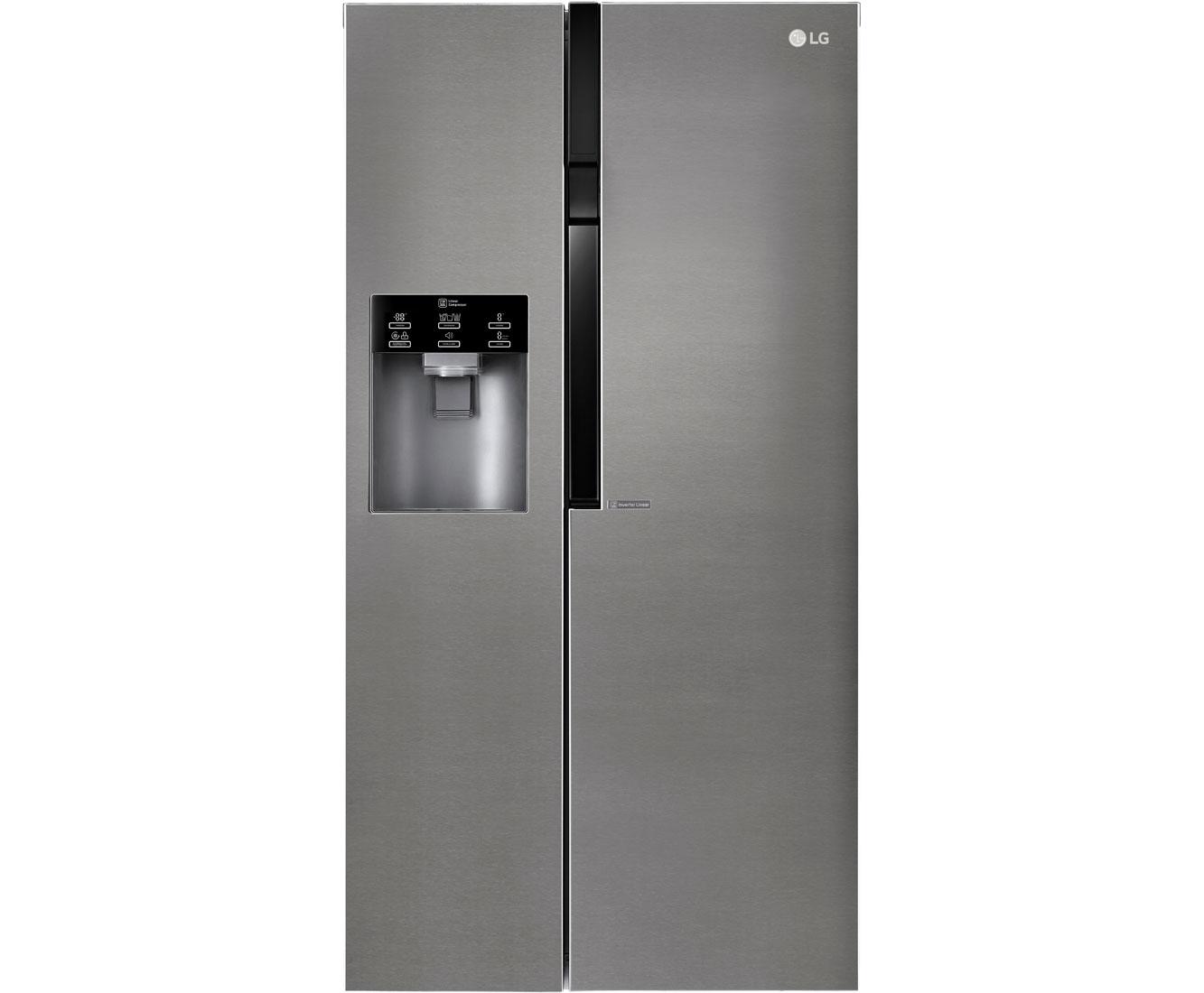 Amerikanischer Kühlschrank Anschlüsse : Lg gsl 360 icez amerikanischer side by side mit wasserspender 591l