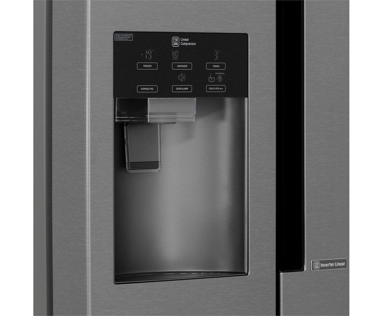 Kühlschrank Side By Side Check24 : Lg gsl 361 icez amerikanischer side by side mit wasserspender 591l