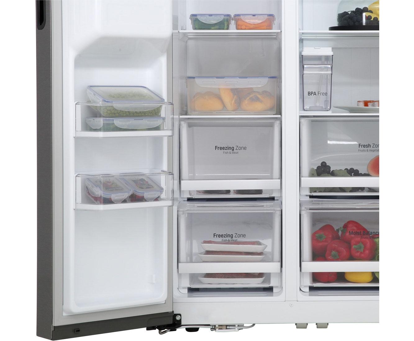 Side By Side Kühlschrank Ratenzahlung : Lg gsl 361 icez amerikanischer side by side mit wasserspender 591l
