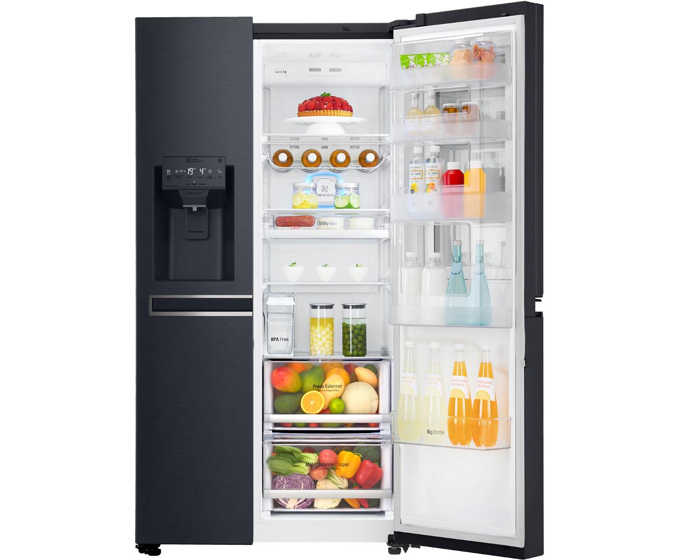 Amerikanischer Kühlschrank Ohne Gefrier : Lg gsx 961 mtaz amerikanischer side by side mit wasserspender 601l