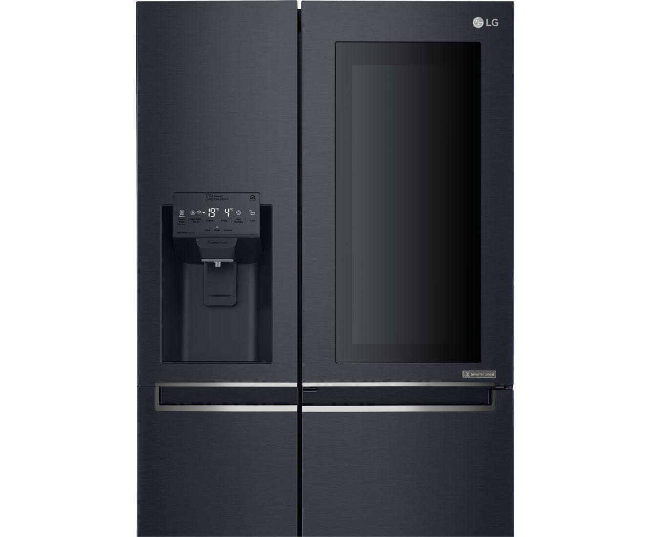 Side By Side Kühlschrank Anthrazit : Side by side kühlschrank schwarz matt: kühlschrank side by side lg
