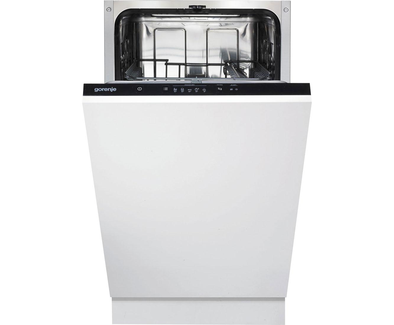 Gorenje GV52010 Geschirrspüler 45 cm - Schwarz   Küche und Esszimmer > Küchenelektrogeräte > Gefrierschränke   Schwarz   Gorenje