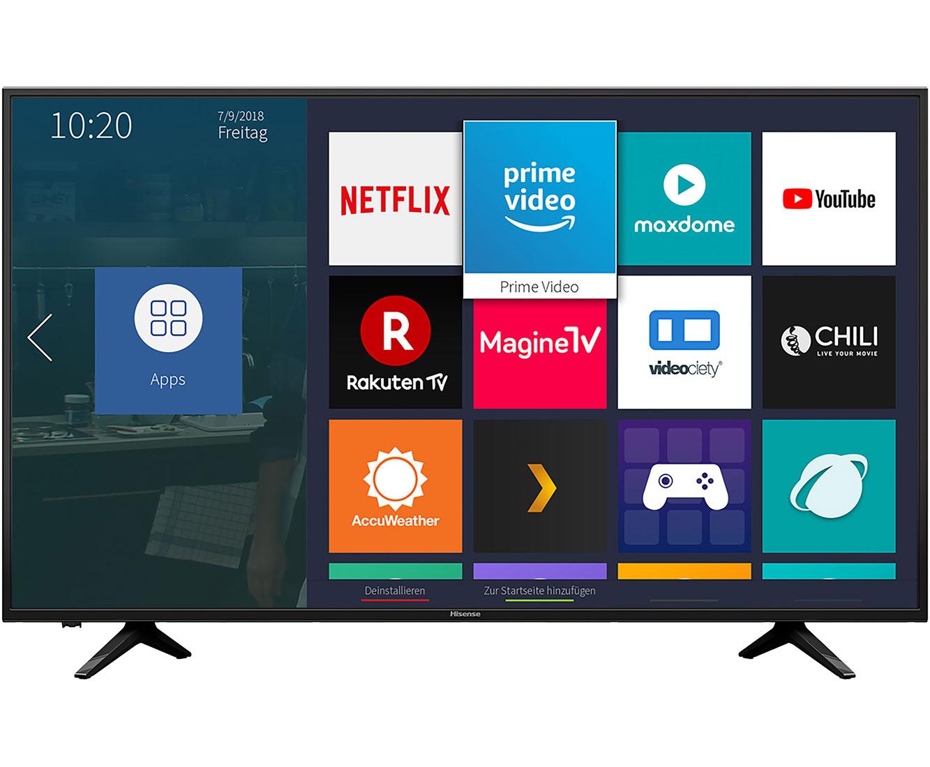 Hisense H43AE6000, 4K/UHD, LED, Smart TV, 108 cm [43