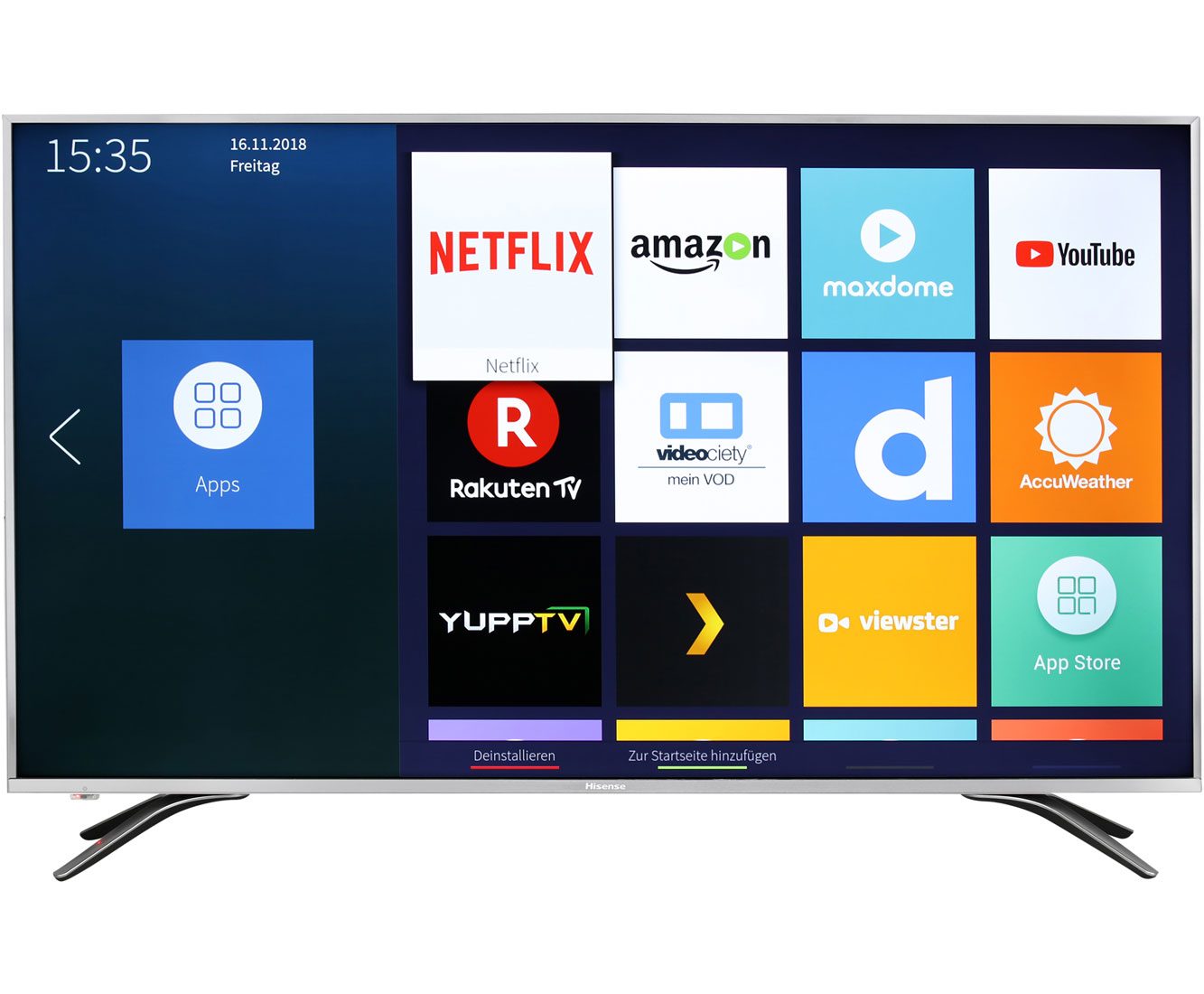 Hisense H55AE6400, 4K/UHD, LED, Smart TV, 138 cm [55