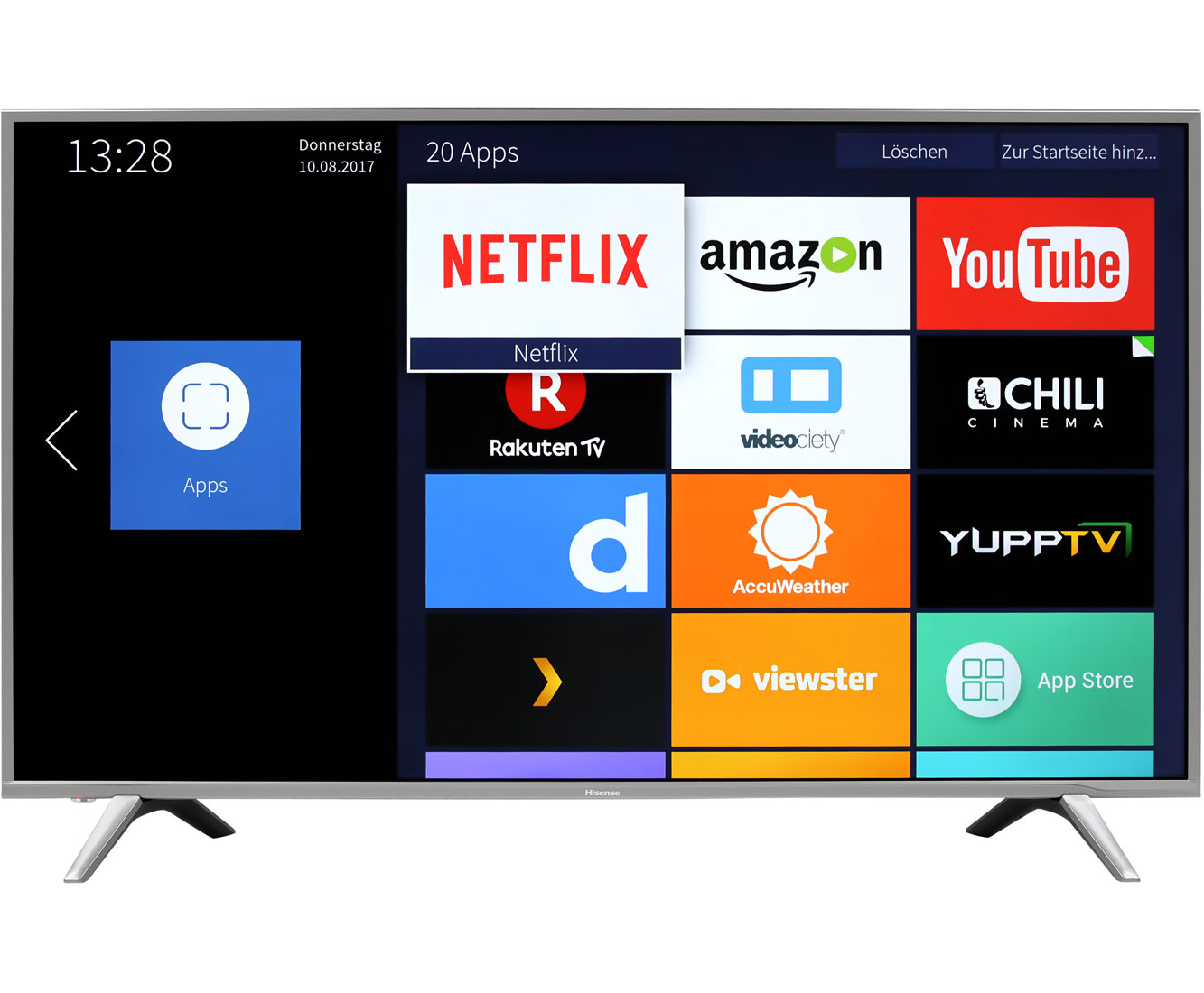 Hisense H55NEC5605, 4K/UHD, LED, LED, Smart TV, 138 cm [55
