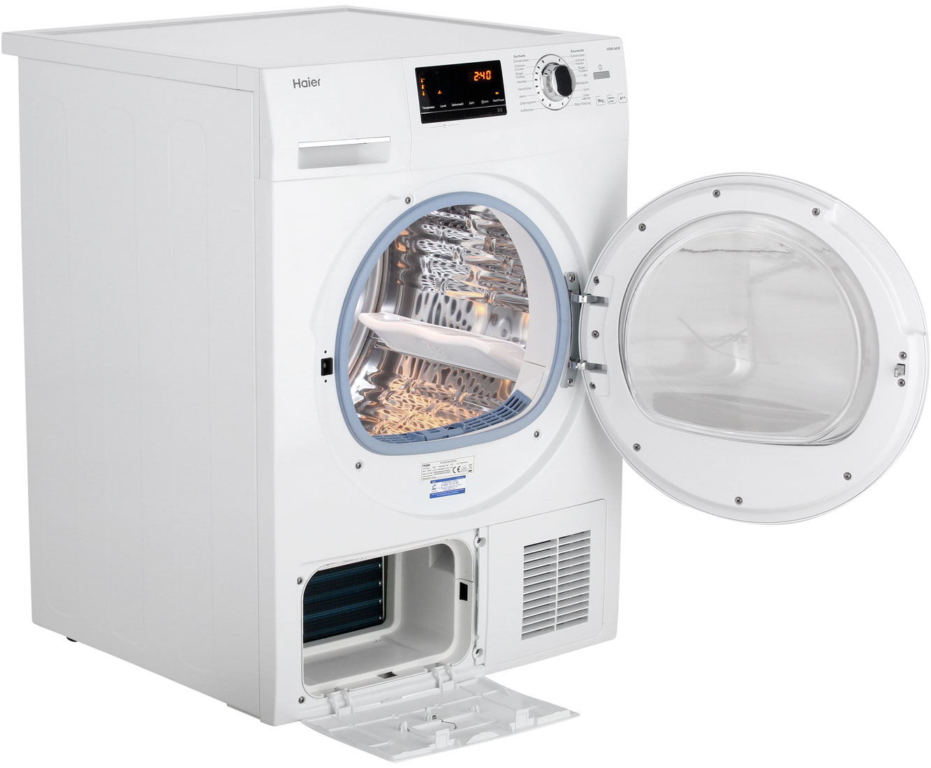 Haier hd90 a636 wärmepumpentrockner 9 kg weiß a