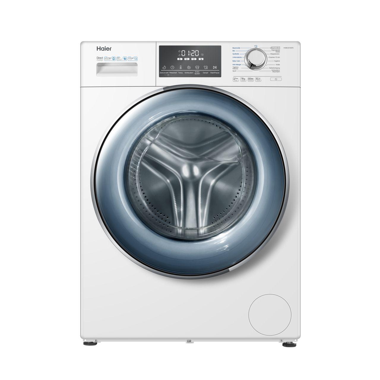 Waschmaschine Haier Hw80 B14876 Dampffunktion 8 Kg Kapazitat Ao De