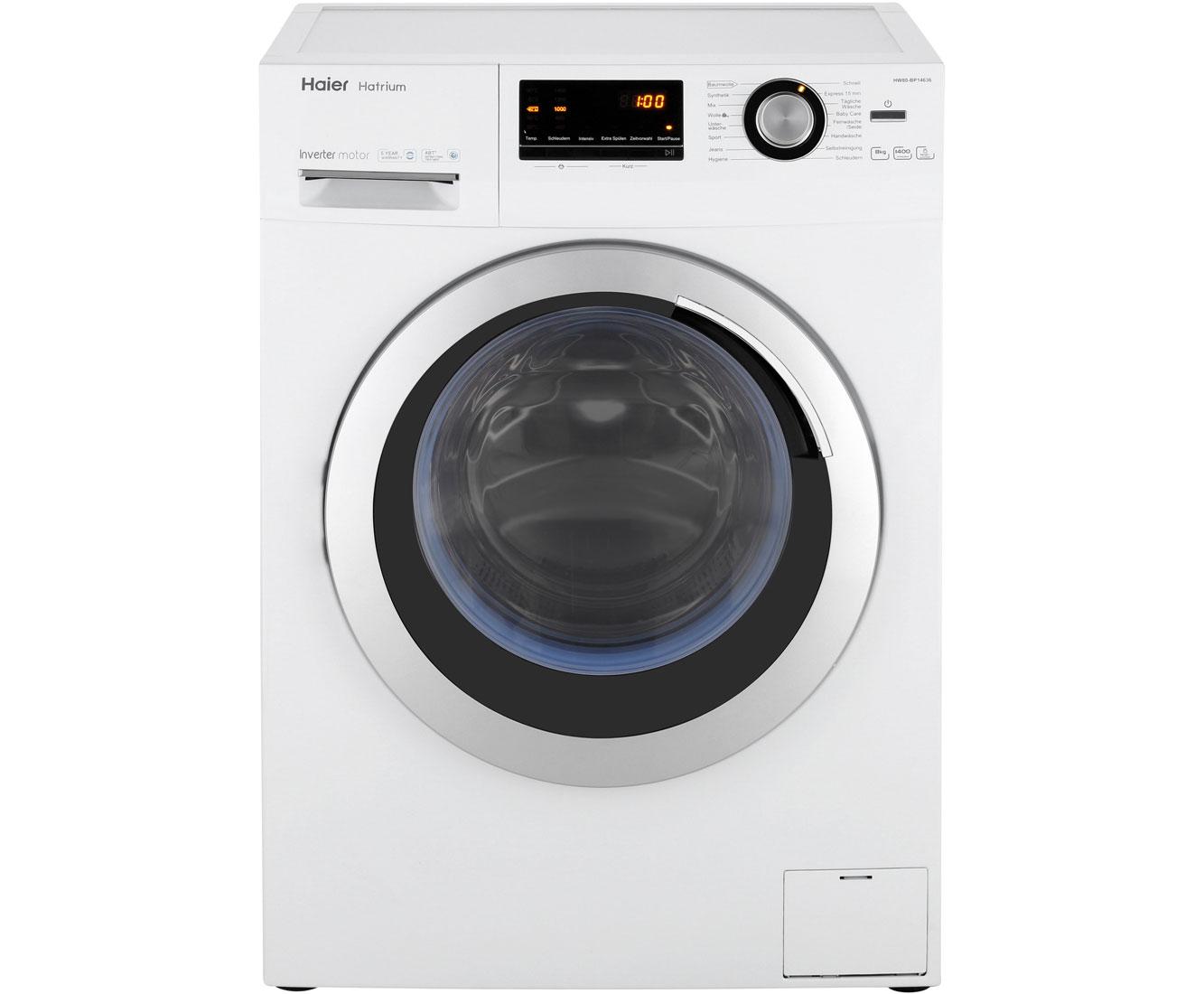 haier hw80 bp14636 waschmaschine freistehend weiss neu ebay. Black Bedroom Furniture Sets. Home Design Ideas