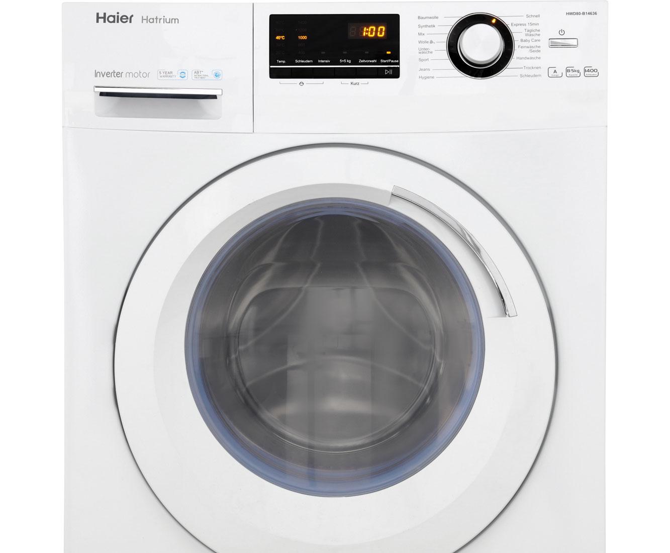 haier hwd80 b14636 waschtrockner wei wir schlie en ihr ger t auch an ebay. Black Bedroom Furniture Sets. Home Design Ideas