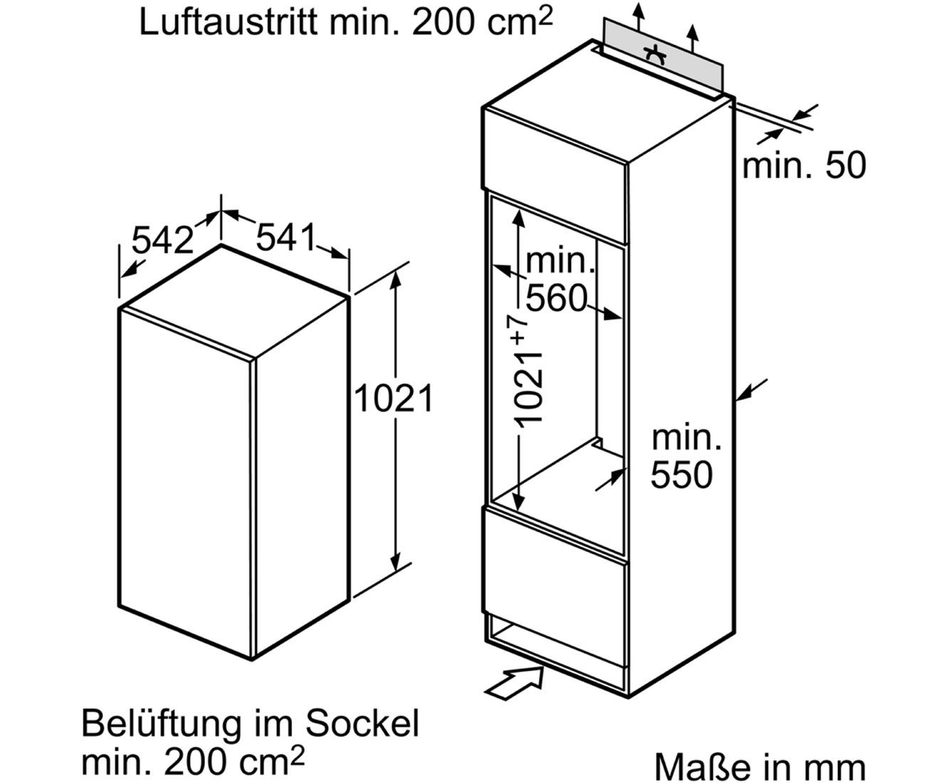 Neff [K1535X8] K325A2 Einbau-Kühlschrank mit Gefrierfach - Festtür ...