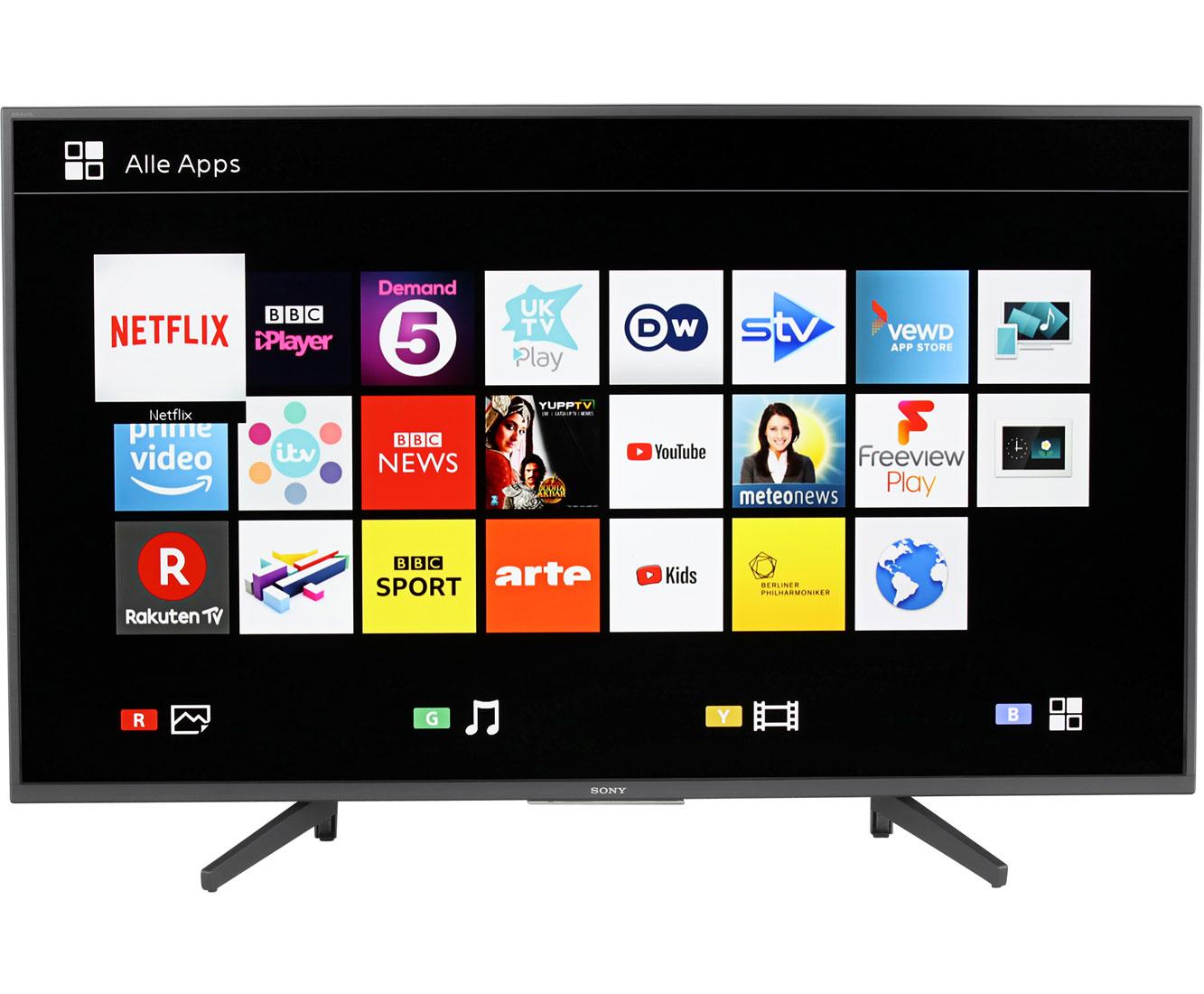 Sony Kd 55xf7005 4kuhd Led Smart Tv 139 Cm 55 Schwarz