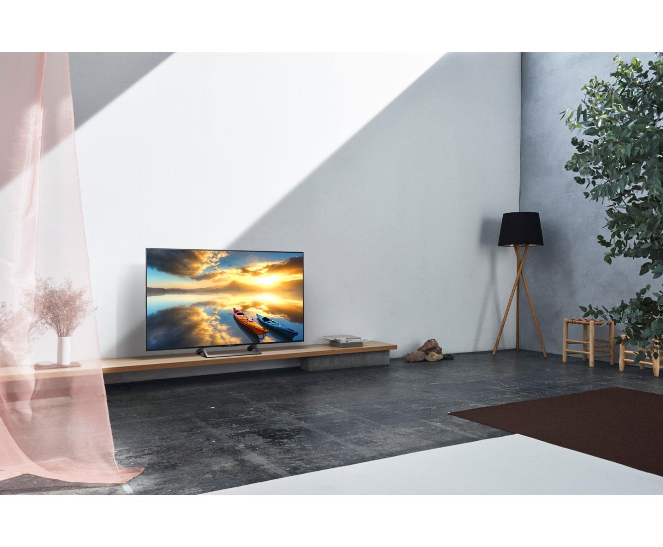 sony kd49xe7005baep 4k uhd led fernseher 123 cm 49 zoll. Black Bedroom Furniture Sets. Home Design Ideas